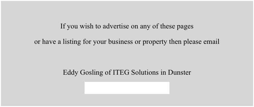 If you wish to advertise on any of these pages 